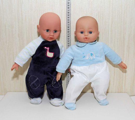 два милых пупсика пупс кукла мягкий 36см