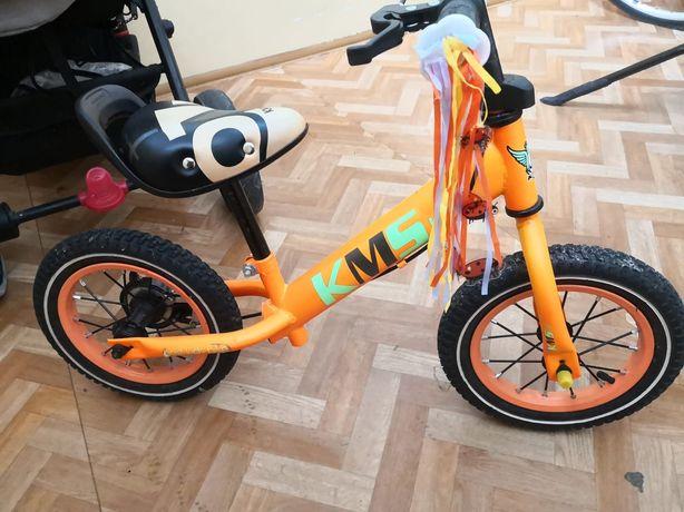 Rowerek biegowy, KMS Lite, pomarańczowy