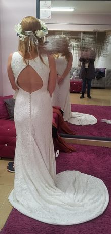 Suknia ślubna koronka ecru