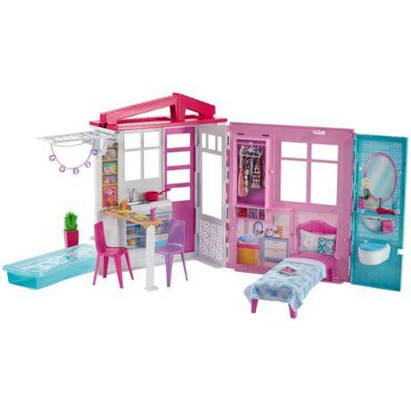 Barbie – Umeblowany Przytulny Domek z Wyposażeniem FXG54
