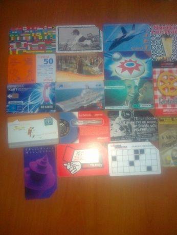 Karty telefoniczne włoskie ,holenderskie,tureckie