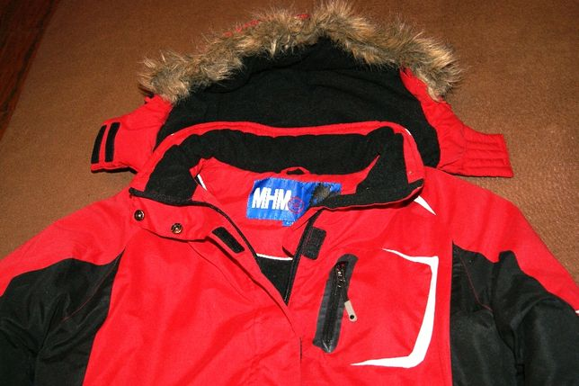MHM ciepła kurtka z kapturem 40 L