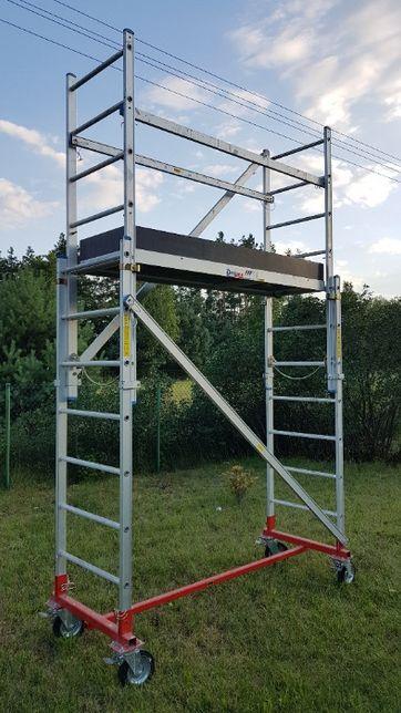 WYNAJEM - Rusztowanie jezdne, aluminiowe na kołach (wys. robocza 4,2m)