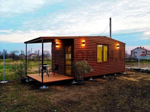 Мини-дом 6870$ с террасой для дачи и отдыха. Модульный дачный домик