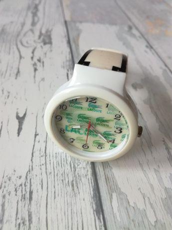 Zegarek z krokodylem biały