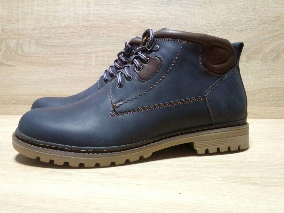 Ботинки / полуботинки зимние мужские (нубук), размер 43. Хмельницкий - изображение 1