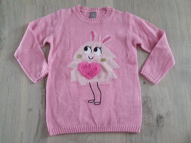 Sweterek różowy 116 cm