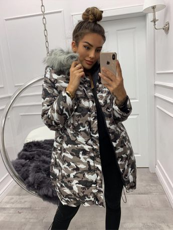 Płaszcz damski zimowy, Miss City, rozmiar S