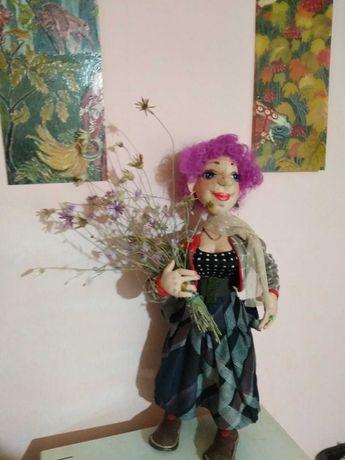 Интерьерная кукла МОДНИЦА - подарок сувенир
