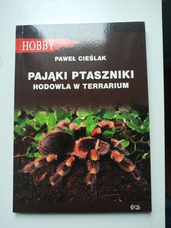 Pająki Ptaszniki hodowla w terrarium, książka, nowa + pęseta