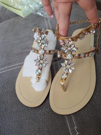 Sandały diamenty roz. 39/40