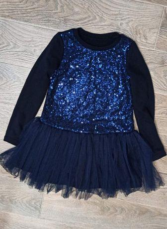 Продаю теплое блестящее платье для девочки!