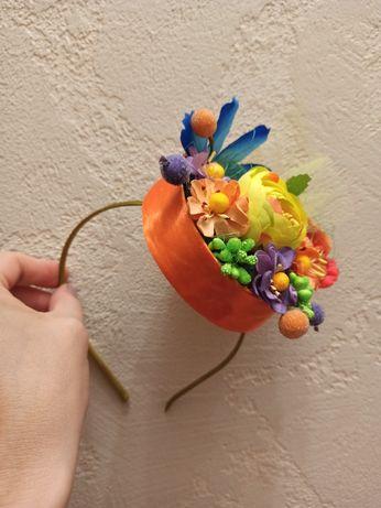 Обруч весна-осень, шляпка,костюм, для утреника, корзинка