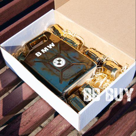 Канистра 1л. для алкоголя   Канистра с надписью   золотистая бар