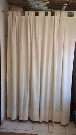 8 Cortinas de tecido com 2,36 ×130
