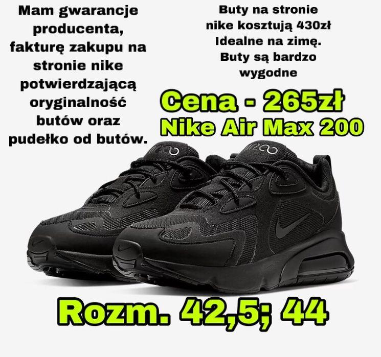 Nowe buty nike air max 200 rozm. 42,5 i 44 Ostrów Wielkopolski - image 1