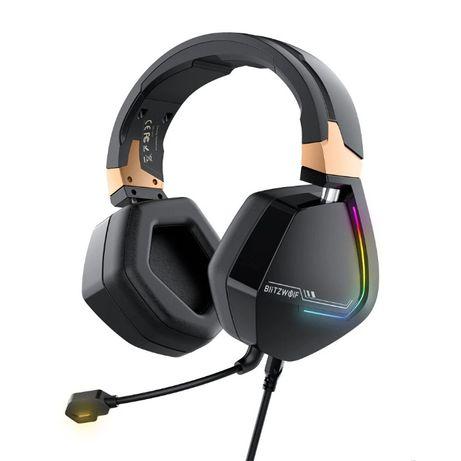 Auscultadores RGB Gaming 7.1 surround virtualUSB com microfone novo