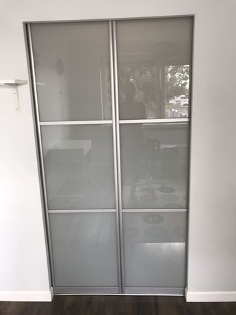 Drzwi do garderoby satyna i mleczna szybav