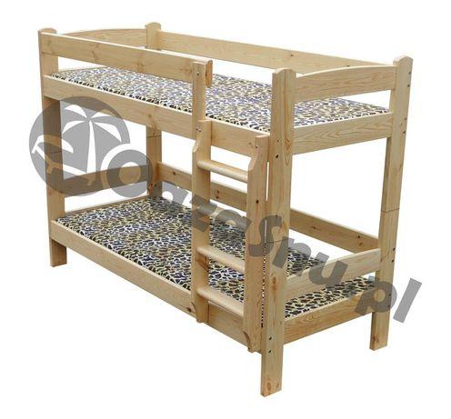 TYTAN 90x200 łóżko piętrowe drewniane mega solidne dowolny wymiar
