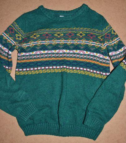 642^ TU Świąteczny sweter norweski wełna 11L_146cm