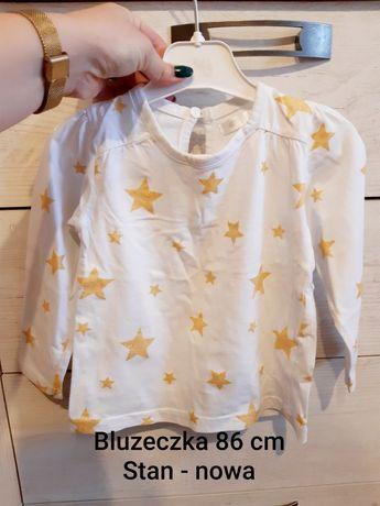 Nowa bluzeczka bluzka z długim rękawem 86 cm