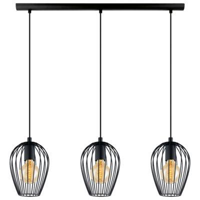 Lampa Wisząca Zwis Eglo Newtown 49478 Czarna