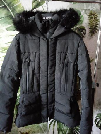 ZARA kurtka zimowa puch naturalny rozm. L