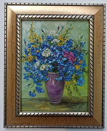 Картина маслом натюрморт цветы подарок