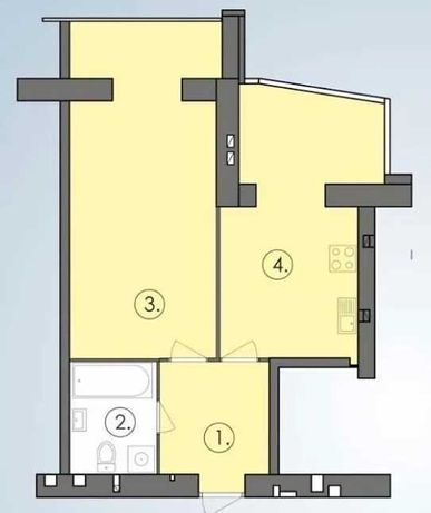 Просторная квартира в новом доме!