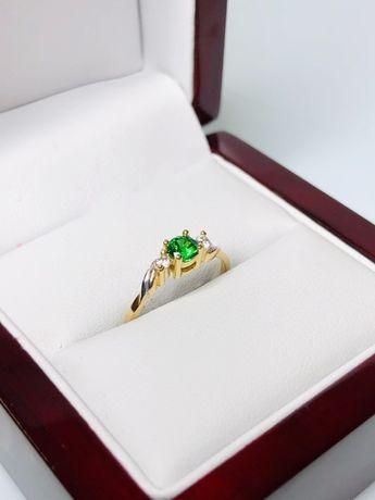 przepiękny delikatny złoty pierścionek p585 1,33g