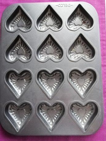 Nowa blacha do pieczenia mufinek ciasteczka serca