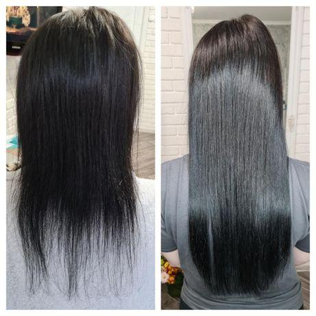 Наращивание волос. Итальянское микрокапсульное, коррекция. Доступно!
