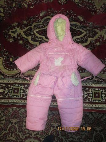 Комбинезон для девочки зимний (0-6 месяцев)