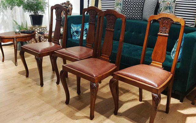 Krzesła antyczne drewniane 4 sztuki