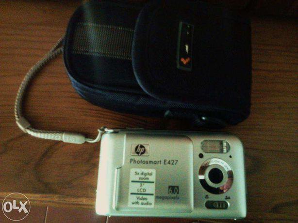 Maquina fotografica HP digital e bolsa