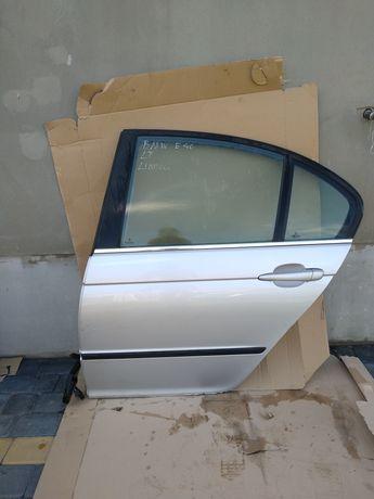 Drzwi lewe tylne lewy tył BMW E46 sedan kompletne sedan srebrne