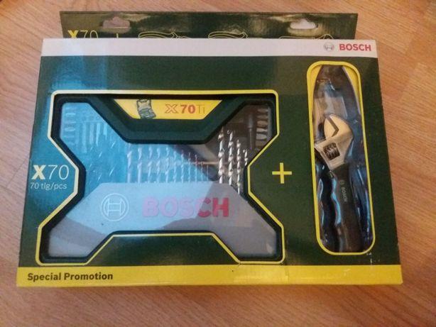 Zestaw promocyjny narzędzi Bosch   70 części + 3x szczypce   Okazja