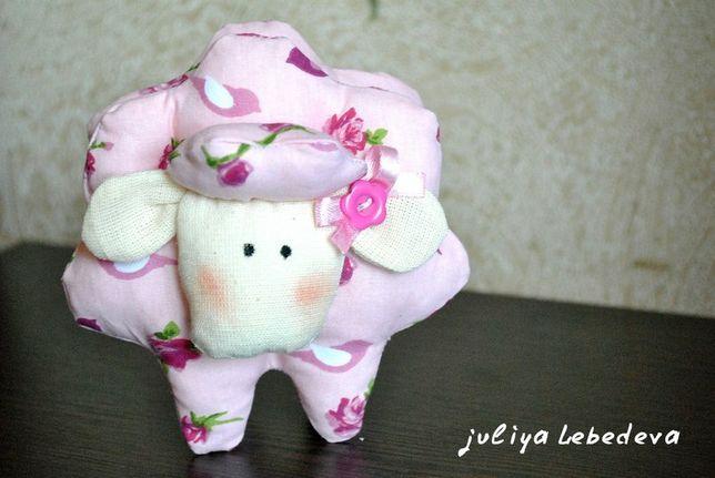 """Игрушка ручной работы """"Милая барашка (овечка)"""" на подарок іграшка"""