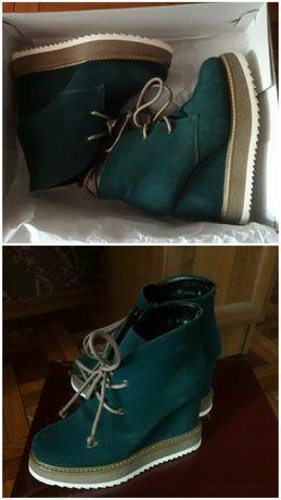 Продам зимние ботинки! Натуральная замша