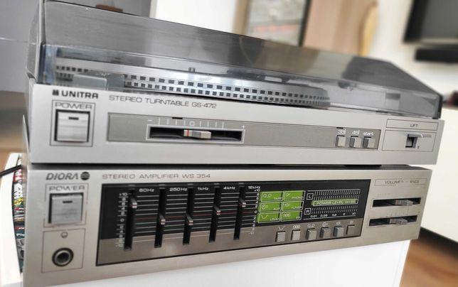 Gramofon GS-472 + wzmacniacz WS-354 wieża Diora Fonica Unitra