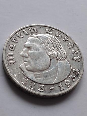2 marki 1933 A Luther lll Rzesza