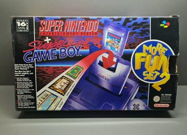 Snes Super Nintendo Oryignalne Opakowanie Box Game Boy Adapter komplet