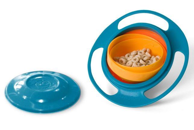 Чудо тарелка НЛО непроливайка-непросыпайка-неваляшка Gyro Bowl