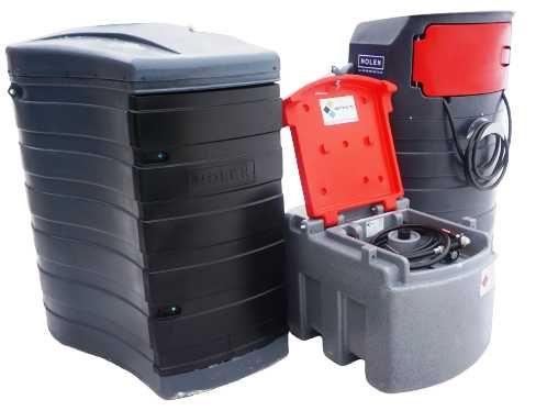 Zbiornik paliwo paliwa 460L mobilny - dwupłaszczowy 1500L 2500L