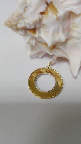Piękny wisiorek - koło, złoto próby 585