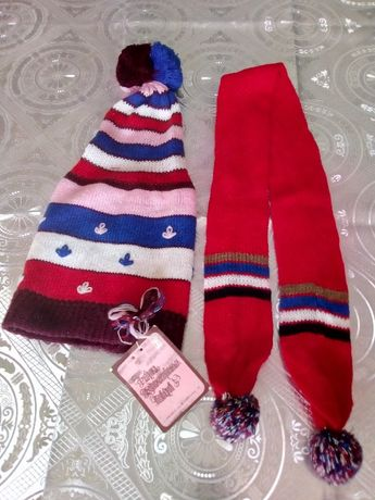 Шапочка шарфик набор детский 30 грн.