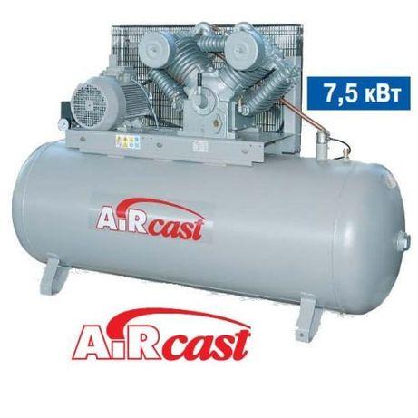 Компрессор AIRCAST СБ4/Ф-500.LТ100. (7,5кВт) (380В) - Новый. Оригинал