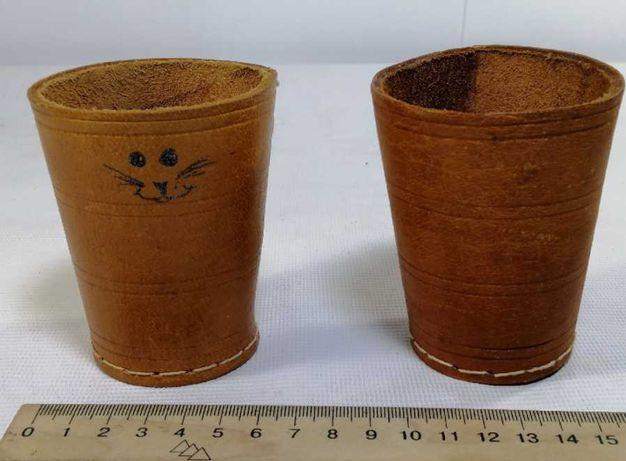 ручная работа подставка стакан 2шт набор натуральная кожа из Германии
