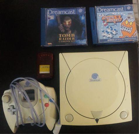 Dreamcast c/ 2 jogos