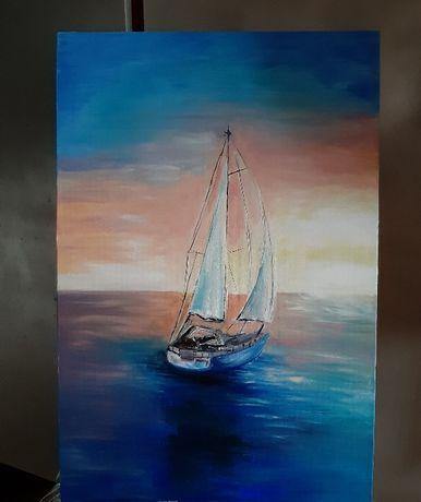Картина маслом/море/холст